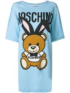 платье-футболка playboy teddy Moschino