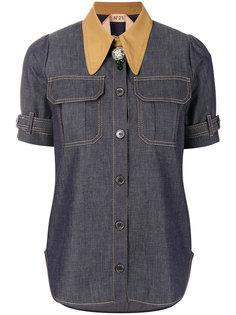 рубашка с короткими рукавами и отделкой  Nº21