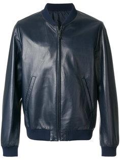 кожаная куртка-бомбер Prada