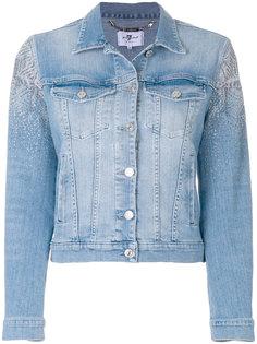 джинсовая куртка с отделкой  7 For All Mankind