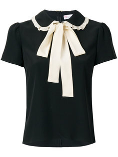 блузка с завязкой на бант Red Valentino