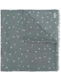 шарф с вышитым звездами Closed