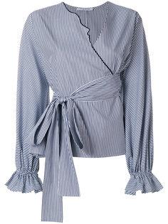 поплиновая рубашка-кимоно в полоску Kari Vivetta