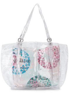 прозрачная сумка-тоут John Galliano