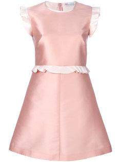 расклешенное платье мини с оборкой  Red Valentino