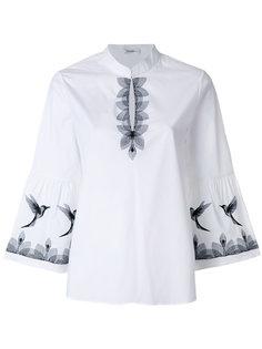 блузка с отделкой в виде птиц  Vilshenko