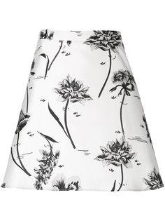 юбка с цветочным принтом Markus Lupfer