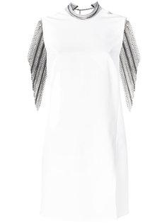 декорированное платье  Versace