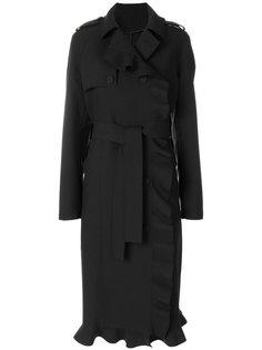 двубортное пальто с оборкой  MSGM