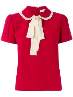 футболка с бантом на воротнике  Red Valentino