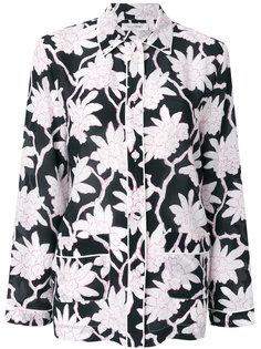 топ в пижамном стиле с цветочным принтом  Valentino