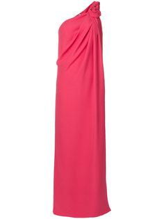 длинное платье на одно плечо Lanvin