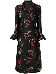 пальто с жаккардовым цветочным узором  Dolce & Gabbana
