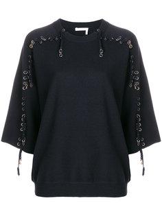 свитер  с люверсами Chloé