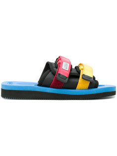 colour block double strap sandals Suicoke