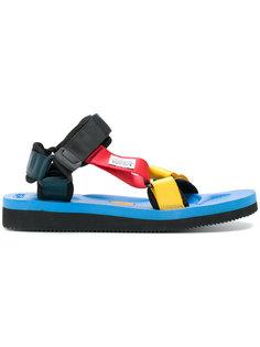 сандалии дизайна колор-блок Suicoke