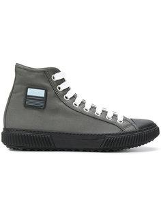 logo patch hi-top sneakers Prada