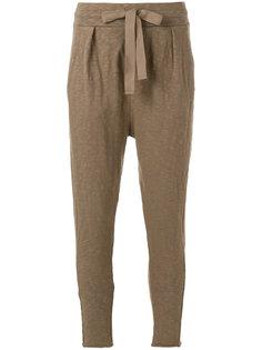 спортивные брюки с завязками на поясе Thom Krom