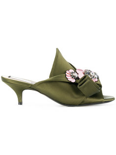 abstract bow embellished mules Nº21