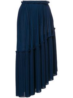 асимметричная плиссированная юбка Kenzo