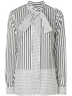 блузка с комбинированным узором Burberry