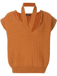 свитер  с горловиной с вырезами Raf Simons