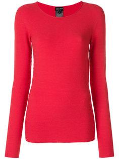 свитер с ребристой фактурой Giorgio Armani
