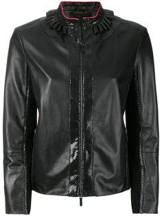 куртка с отделкой под змеиную кожу Giorgio Armani