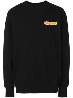 logo print sweatshirt Versus