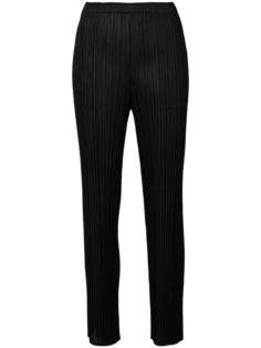 straight-leg pleated trousers Pleats Please By Issey Miyake