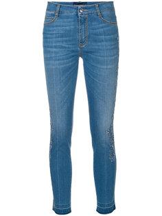 укороченные джинсы с кружевной отделкой  Ermanno Scervino
