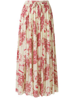 плиссированная юбка с цветочным принтом Forte Forte