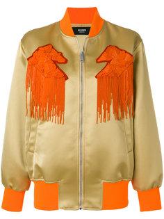 куртка-бомбер с бахромой Versus
