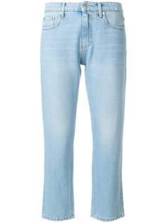 cropped logo jeans MSGM