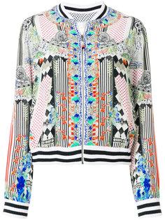 куртка-бомбер с абстрактным принтом  Camilla