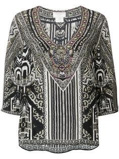 блузка с принтом  Camilla