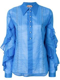 рубашка с оборками на рукавах  Nº21
