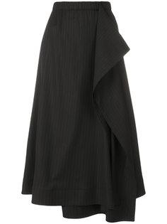 полосатая юбка с рюшами Cédric Charlier
