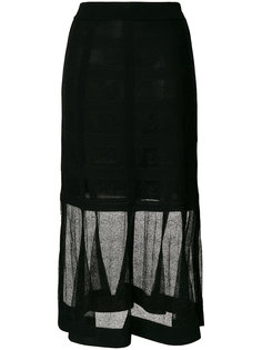 кружевная юбка миди Alexander McQueen