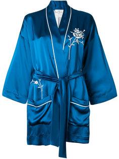 пиджак с поясом и вышивкой Forte Forte
