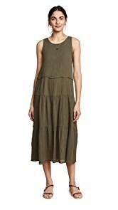 Three Dots Cotton Gauze Tiered Dress
