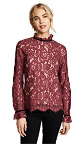 WAYF Sukie Raglan Lace Top