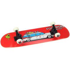 Скейтборд в сборе детский детский Footwork Skatebusters Mini Red 28.25 x 7.125 (17.8 см)