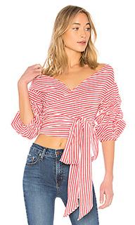 Блуза с буфами на рукавах bow - Lovers + Friends