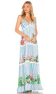 Макси платье stripe blossom - ROCOCO SAND