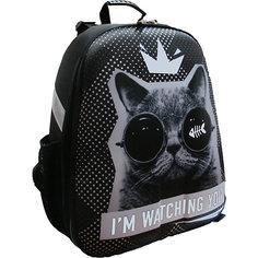 Рюкзак школьный каркасный Кот в очках Centrum