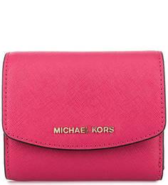 Кошелек цвета фуксии из сафьяновой кожи Michael Michael Kors