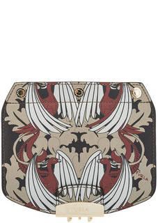 Съемный кожаный клапан к основе для сумки Furla