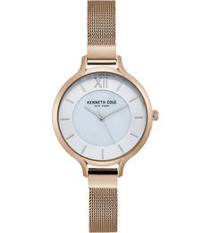 Кварцевые часы с тонким металлическим браслетом Kenneth Cole