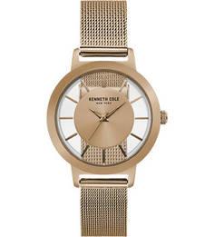 Кварцевые часы с золотистым металлическим браслетом Kenneth Cole